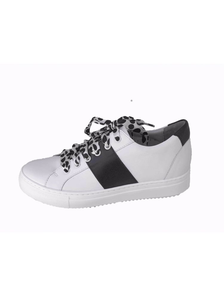Verhulst schoenen  8341D 2763-2765 Tara sneaker wit-zwart combi