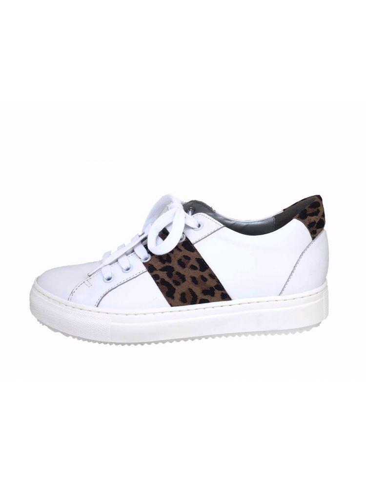 Verhulst schoenen 8341d 3763-2660 Tara sneaker Wit-Taupe combi