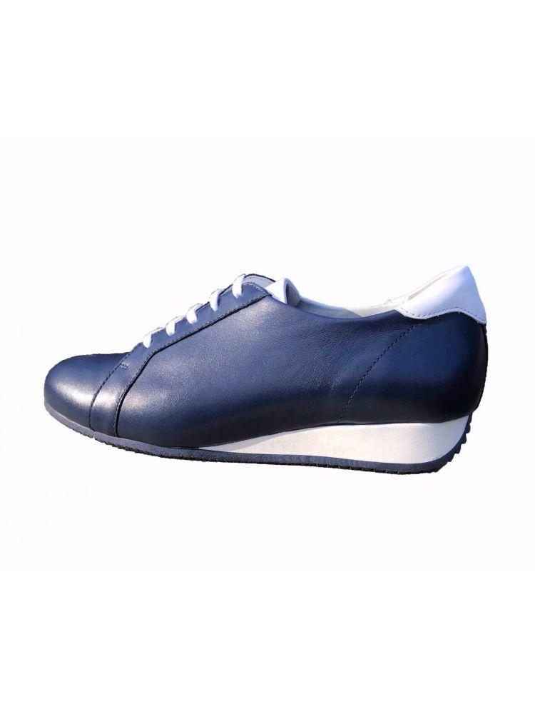 Verhulst schoenen 9331B 2764-2763 Demi sneaker blauw wit.