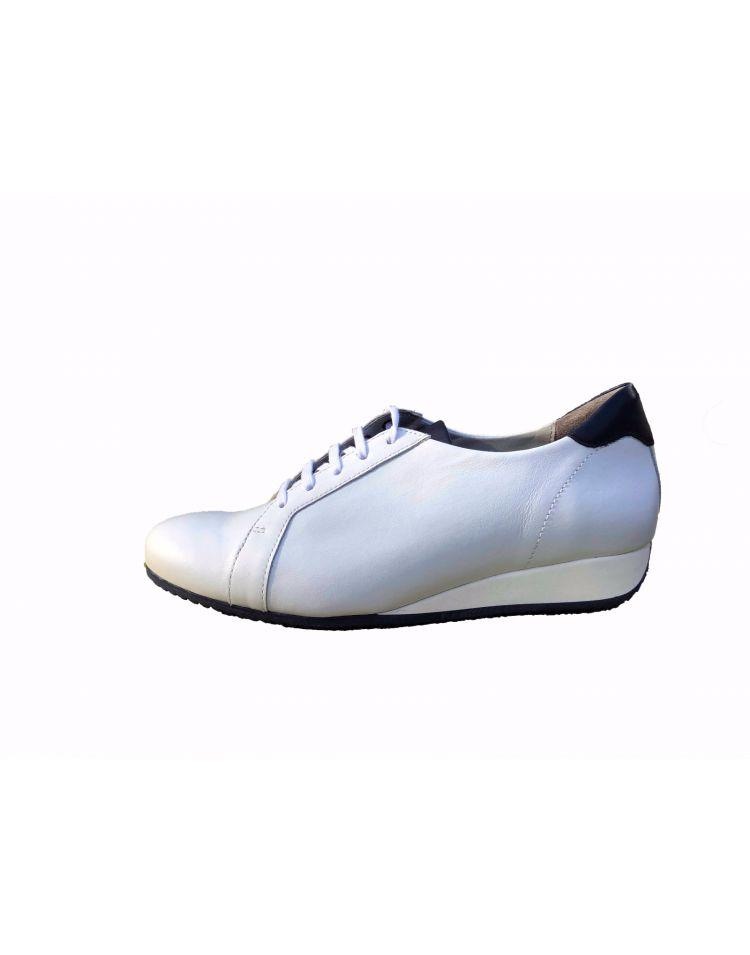 Verhulst schoenen 9331B 0006-2764  Demi sneaker wit/blauw