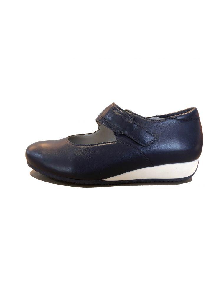 Verhulst schoenen 9305-18-104_2764 Demi bandschoen blauw