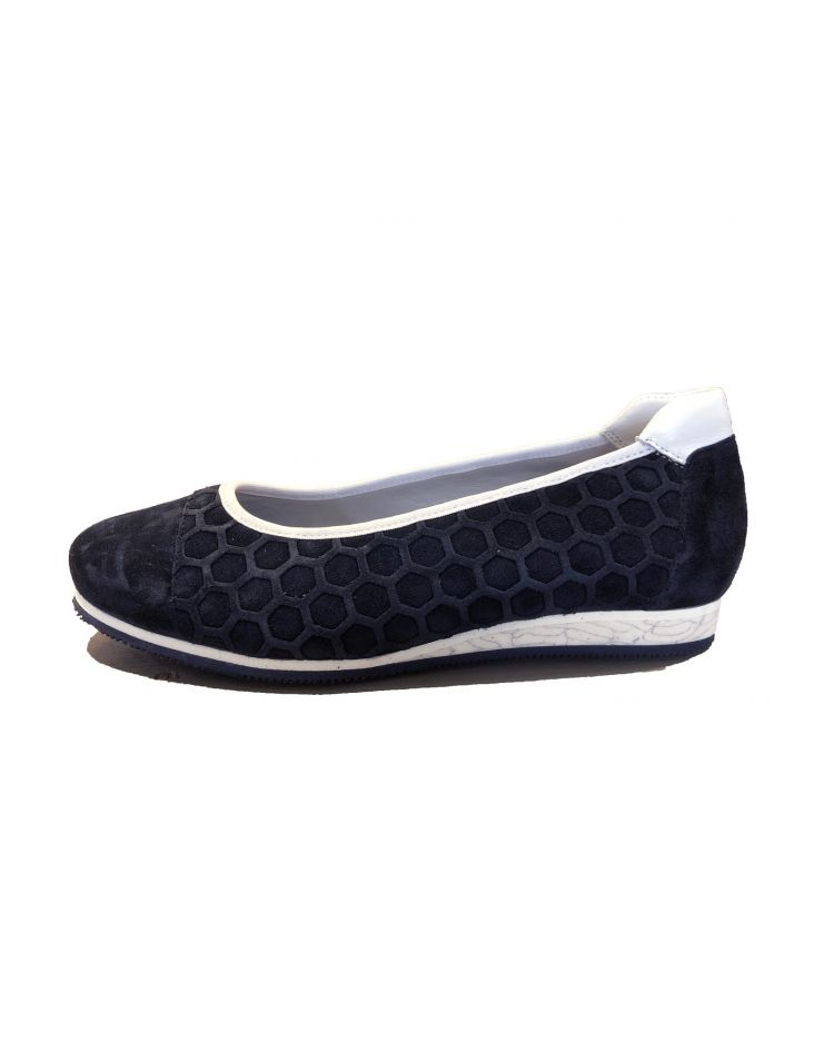 Verhulst schoenen 8303-60-105_2712 Ballerina Mirthe donker blauw