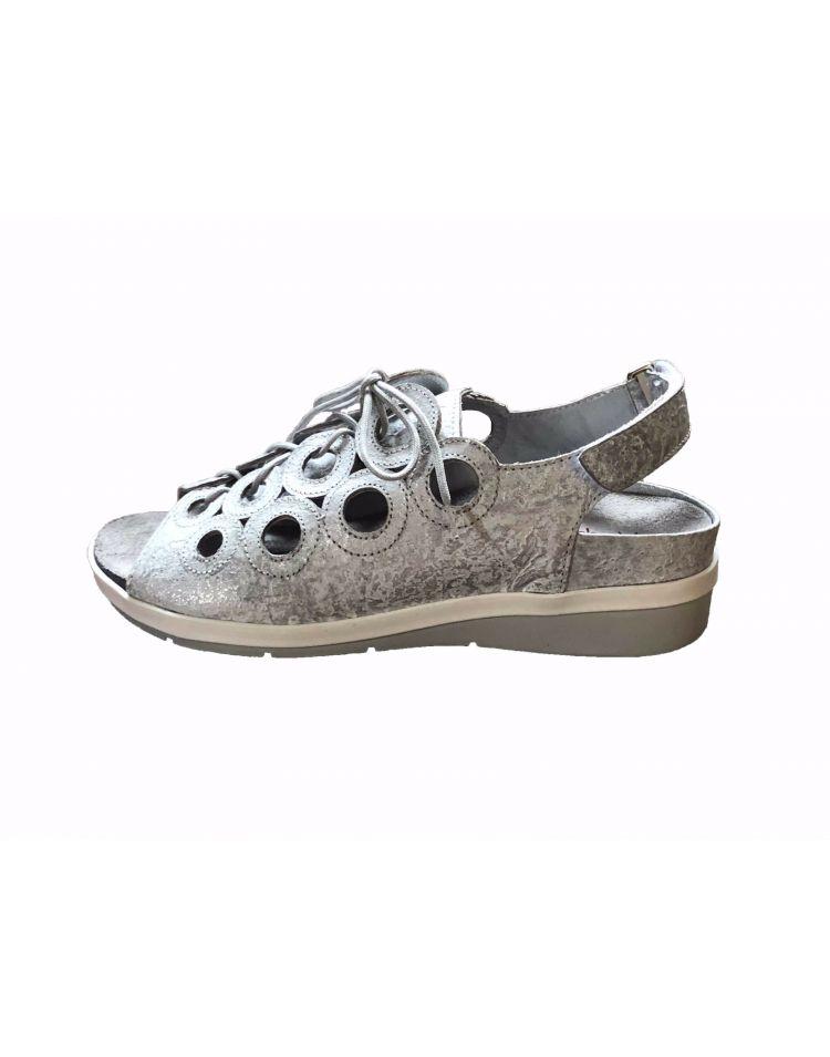 9356-61-30_2772 Hetty sandaal zilver in wijdte G